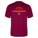 Performance Maroon Tee-Soccer Ball on Top