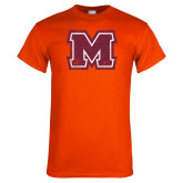 Orange T Shirt-Primary Logo Distressed