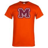 Orange T Shirt-Primary Logo Distressed
