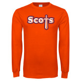 Orange Long Sleeve T Shirt-Tertiary Mark
