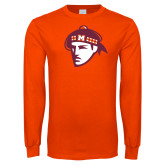 Orange Long Sleeve T Shirt-Scot Head