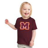 Toddler Maroon T Shirt-Primary Logo