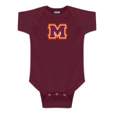 Maroon Infant Onesie-Primary Logo