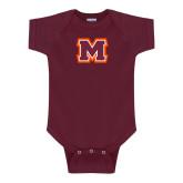 Maroon Infant Onesie-Primary Logo