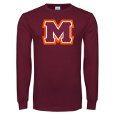 Maroon Long Sleeve T Shirt-Primary Logo