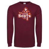 Maroon Long Sleeve T Shirt-Secondary Logo