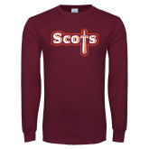 Maroon Long Sleeve T Shirt-Tertiary Mark