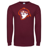 Maroon Long Sleeve T Shirt-Scot Head