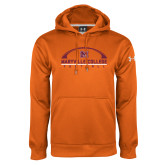 Under Armour Orange Performance Sweats Team Hoodie-Football Arched