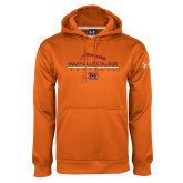 Under Armour Orange Performance Sweats Team Hoodie-Softball Laces on Top