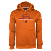 Under Armour Orange Performance Sweats Team Hoodie-Soccer Ball on Top