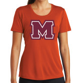 Ladies Syntrel Performance Orange Tee-Primary Logo