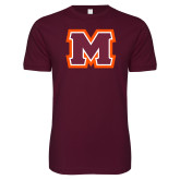 Next Level SoftStyle Maroon T Shirt-Primary Logo
