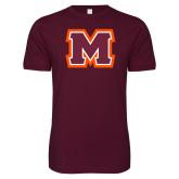 Next Level SoftStyle Maroon T Shirt-Primary Logo
