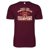 Next Level SoftStyle Maroon T Shirt-2019 Womens Soccer Champions