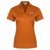 Ladies Orange Performance Fine Jacquard Polo-Tertiary Mark