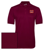 Maroon Dry Mesh Polo-Primary Logo