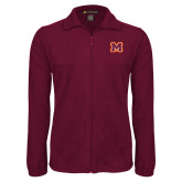 Fleece Full Zip Maroon Jacket-Primary Logo