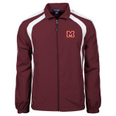 Colorblock Maroon/White Wind Jacket-Primary Logo