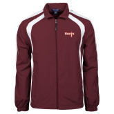 Colorblock Maroon/White Wind Jacket-Tertiary Mark