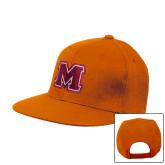 Orange Flat Bill Snapback Hat-Primary Logo