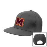 Charcoal Flat Bill Snapback Hat-Primary Logo