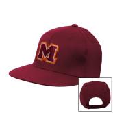 Maroon Flat Bill Snapback Hat-Primary Logo