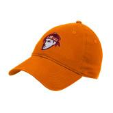 Orange Twill Unstructured Low Profile Hat-Scot Head