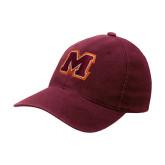 Maroon OttoFlex Unstructured Low Profile Hat-Primary Logo