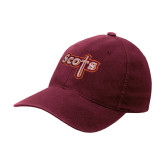 Maroon OttoFlex Unstructured Low Profile Hat-Tertiary Mark