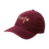 Maroon Flexfit Mid Profile Hat-Tertiary Mark