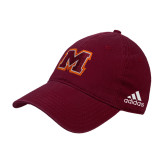 Adidas Maroon Slouch Unstructured Low Profile Hat-Primary Logo