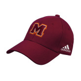 Adidas Maroon Structured Adjustable Hat-Primary Logo
