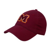 Maroon Twill Unstructured Low Profile Hat-Primary Logo