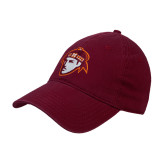 Maroon Twill Unstructured Low Profile Hat-Scot Head