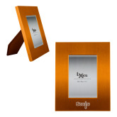 Orange Brushed Aluminum 3 x 5 Photo Frame-Tertiary Mark Engraved