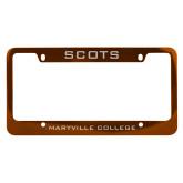 Metal Orange License Plate Frame-Mascot