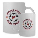 Full Color White Mug 15oz-2019 Womens Soccer USA SAC Champions