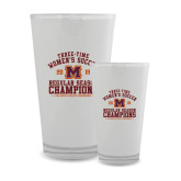 Full Color Glass 17oz-2019 Womens Soccer Champions