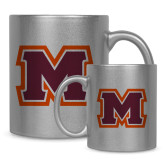 11oz Silver Metallic Ceramic Mug-Primary Logo