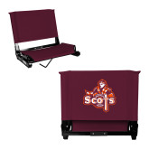 Stadium Chair Maroon-Secondary Logo
