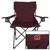 Deluxe Maroon Captains Chair-Primary Logo
