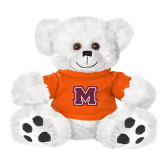 Plush Big Paw 8 1/2 inch White Bear w/Orange Shirt-Primary Logo