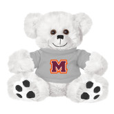 Plush Big Paw 8 1/2 inch White Bear w/Grey Shirt-Primary Logo