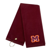 Maroon Golf Towel-Primary Logo