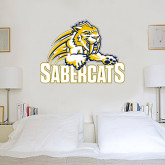 3 ft x 4 ft Fan WallSkinz-Sabercat Swoosh