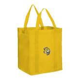 Non Woven Gold Grocery Tote-Sabercat Head