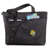 Excel Black Sport Utility Tote-Sabercat Head