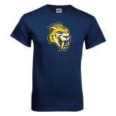 Navy T Shirt-Sabercat Head