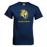 Navy T Shirt-Snarl Strong